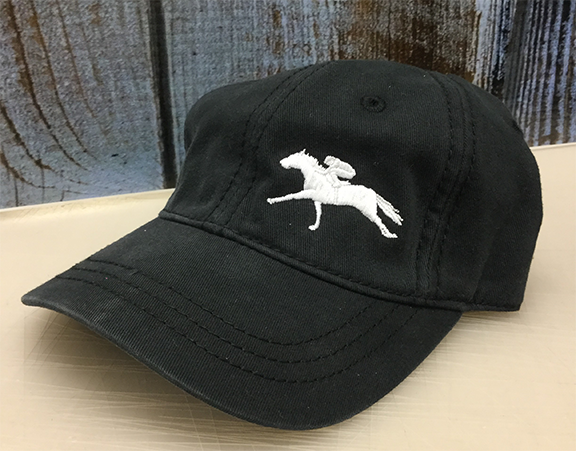 White Racing Unstructured Off Centered Cap