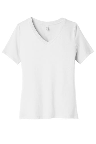 Ladies White V-neck