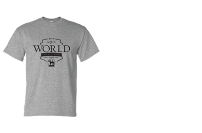 2018 World Show WS Athletic Heather Grey Tee BLACK LOGO