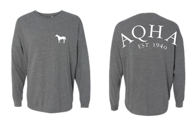 AQHA Oxford HEATHER GREY Game Day Jersey