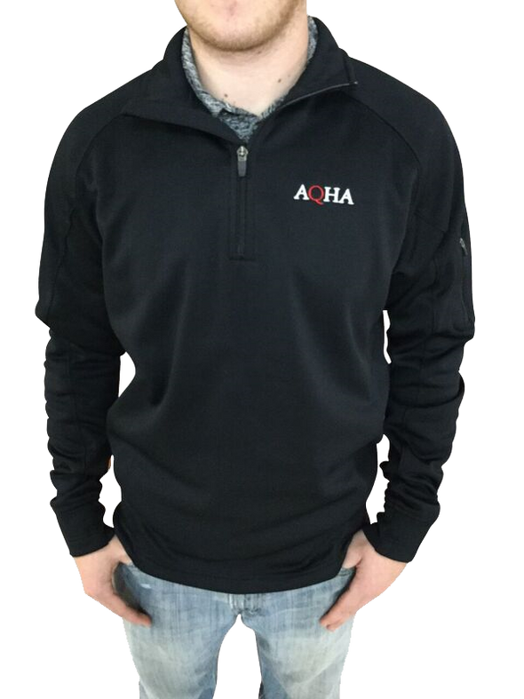 AQHA Black Fleece 1/4 Zip