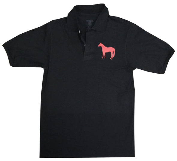 Red Horse Black Polo Small