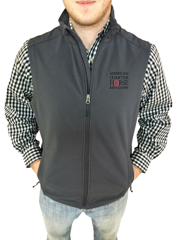 AQHA Grey Softshell Vest