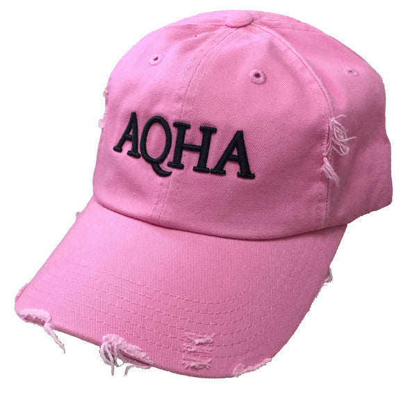 Pink Cap with Raised AQHA Black