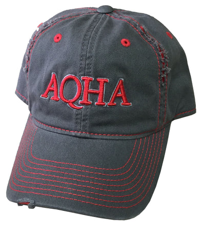 Rasied Red/Grey AQHA Cap