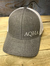 AQHA White American Mesh Heather Cap