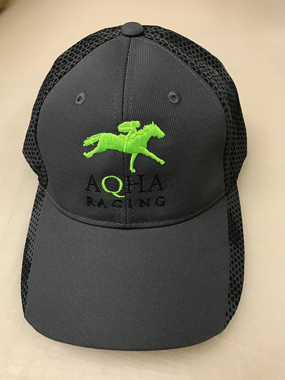 AQHA Racing Lime and Black Camo Hex Cap