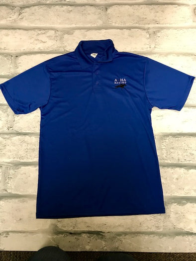 AQHA Racing Royal Blue Performance Polo