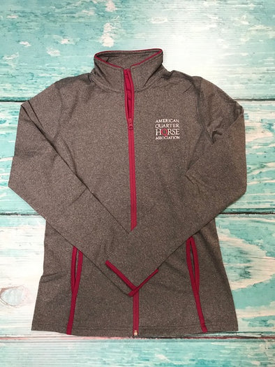 AQHA Stacked logo Ladies grey & Pink Rush jacket