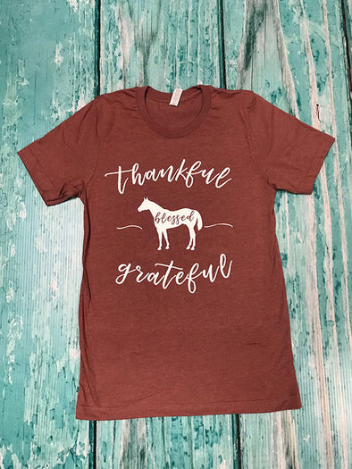 Heather Mauve AQHA & Thankful in white