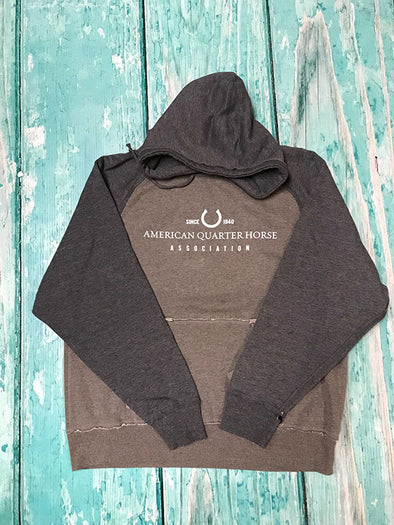 AQHA Smoke Heather/Vintage Navy Hoodie