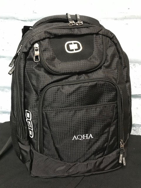 AQHA black and Silver Backpack Excelsior