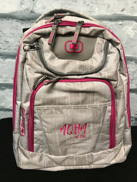 AQHA Blizzard Pink Backpack
