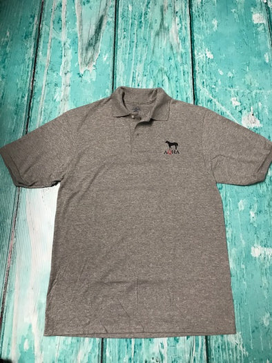 AQHA and Horse Oxford sport grey polo