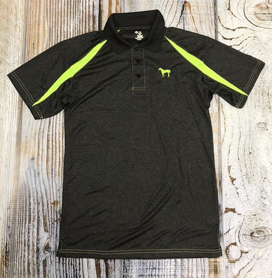 Standing Horse Carbon Heather & Lime Polo