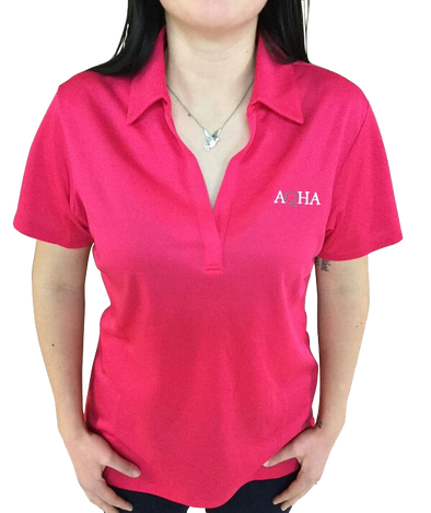 AQHA Ladies Raspberry Polo