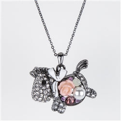 Rose Pony Necklace