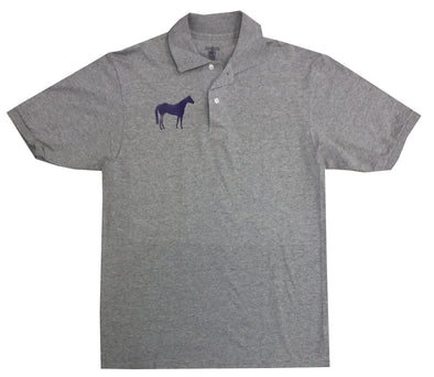 Purple Horse Oxford Polo Medium