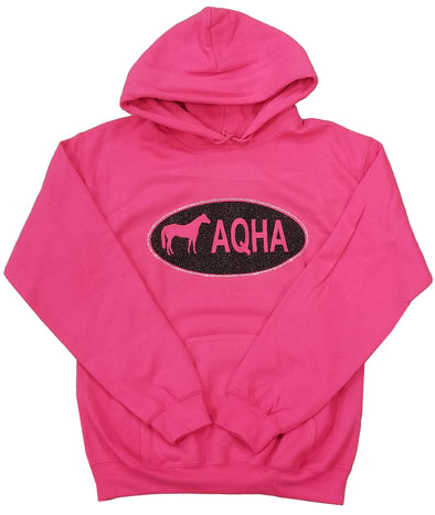 Pink Hoodie with Black Oval