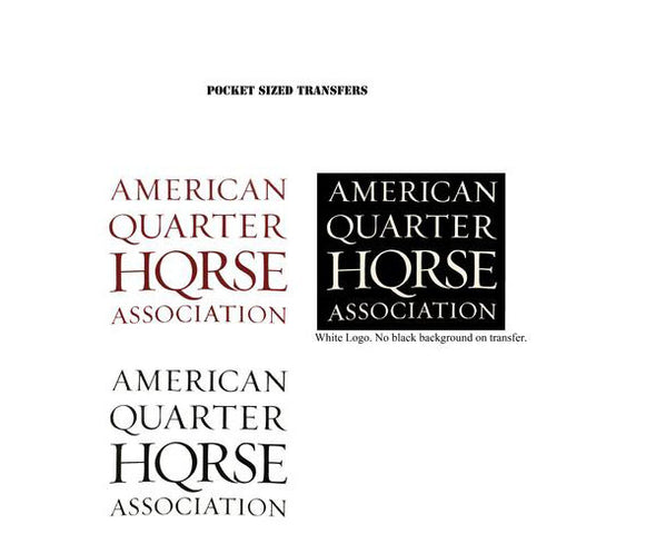 Pocket Stacked AQHA logo