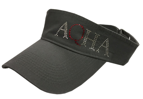 Grey Visor with Red Glitter Blind on the Side