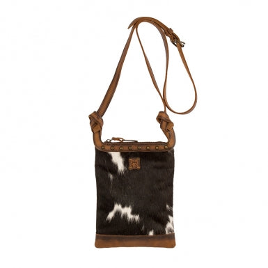 Classic Cowhide Concealed Crossbody Purse
