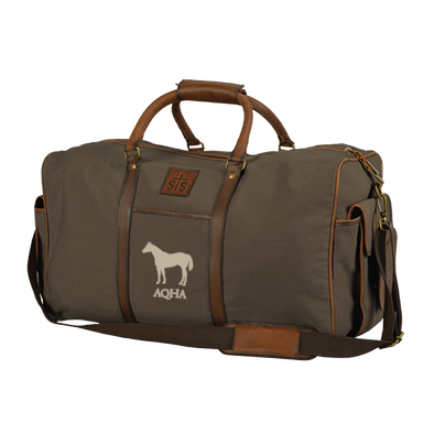 AQHA Dark Canvas Travel Bag