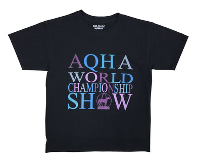 Bright World Show Black Youth Tee Medium