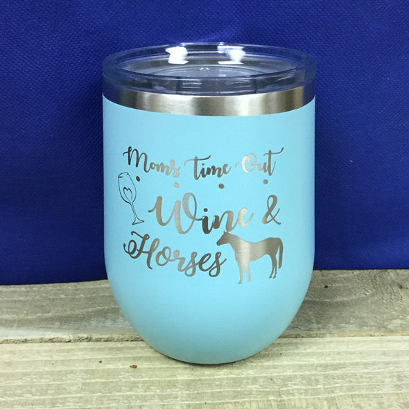 12 oz Stemless Tumbler Moms time Out