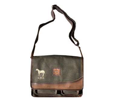 AQHA Military Canvas Foremans Messenger Bag