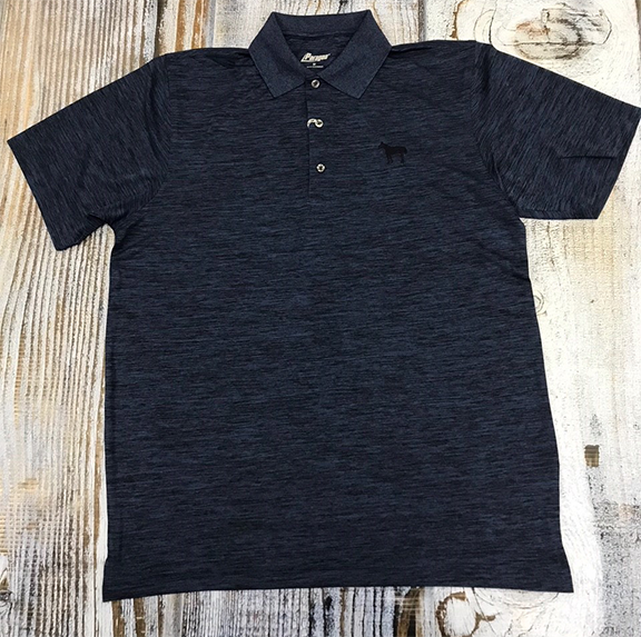 Standing Horse Navy Heather Polo