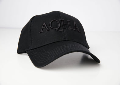 Black Hat with Raised AQHA