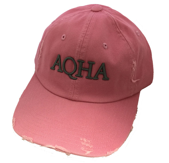Pink Cap with Raised Grey AQHA