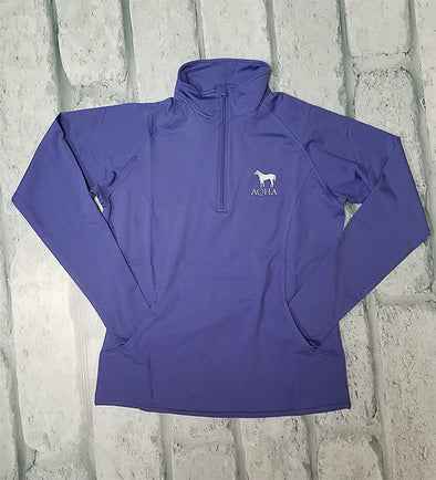 AQHA Ladies Iris Purple 1/4 Zip