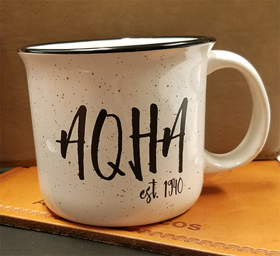 White Campfire Mug with Stretched AQHA 15 oz