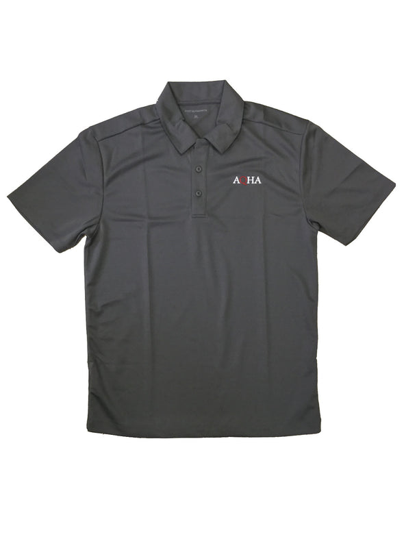 AQHA Grey Dri Fit Polo