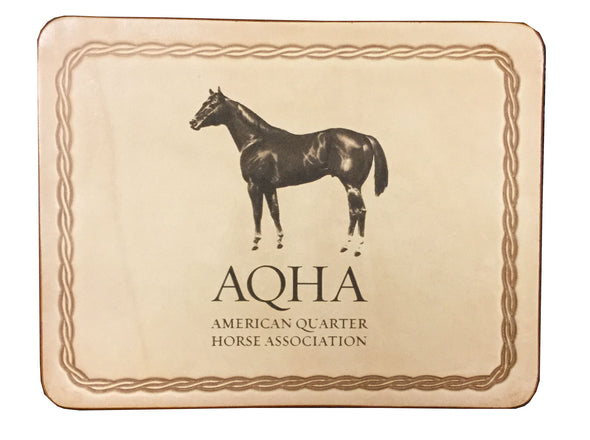 AQHA Leather Mousepad