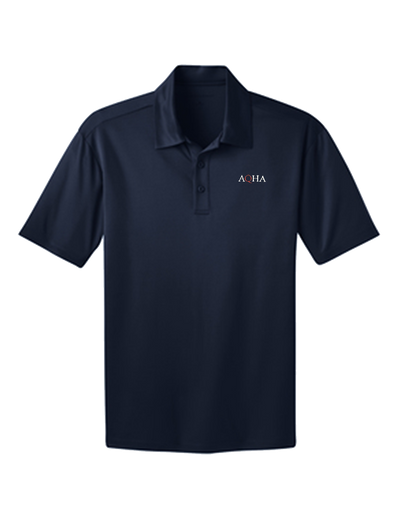 Navy Red with White AQHA Dri Fit Unisex Polo