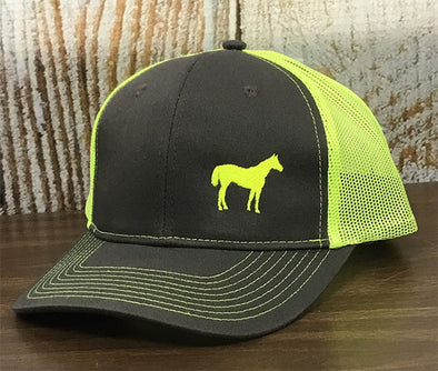 AQHA Neon Yellow & Grey Mesh Cap