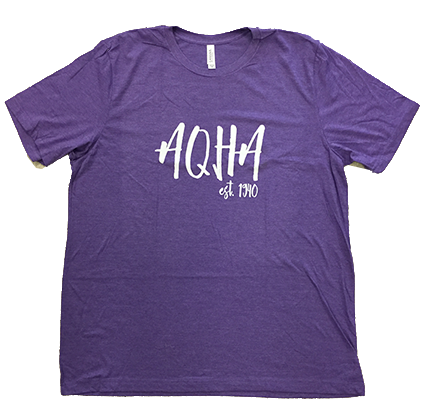 White Rustic AQHA Est 1940 Heather Purple Tee