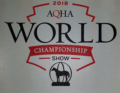 2018 World Show  WS logo Black and Red