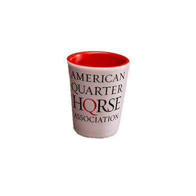 White/Red AQHA Shot Glass