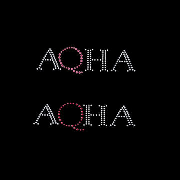 AQHA in bling with pink Q pocket size-6970P
