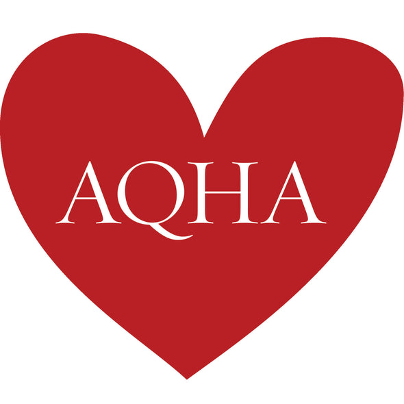 AQHA Heart in Red Foil