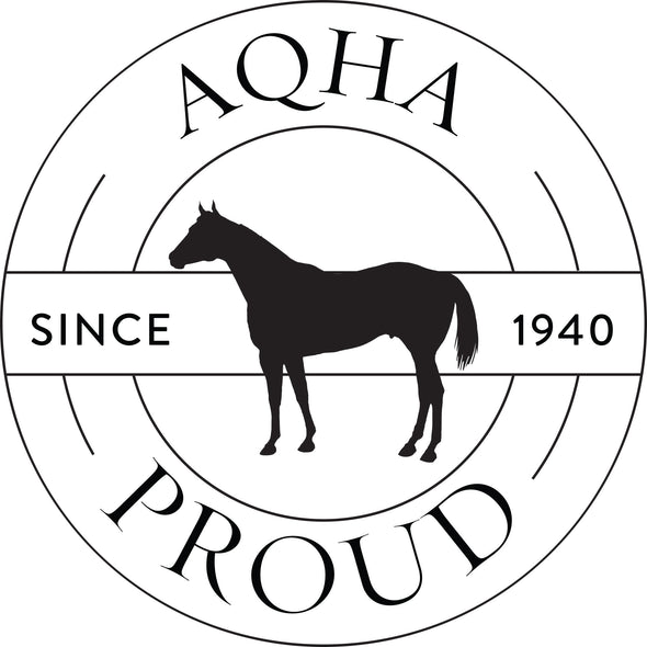 Black AQHA Record Logo Transfer