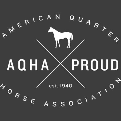 White X AQHA Proud Logo Transfer