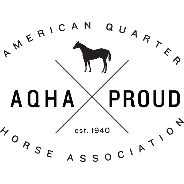 Black X AQHA Proud Logo Transfer