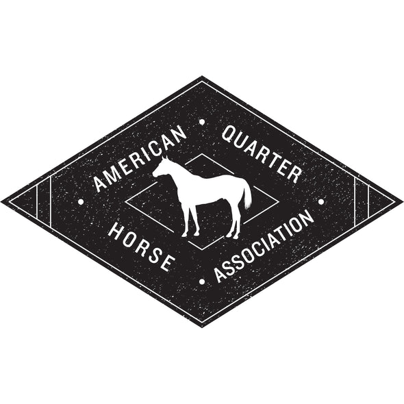 Black Diamond Distressed AQHA logo Transfer