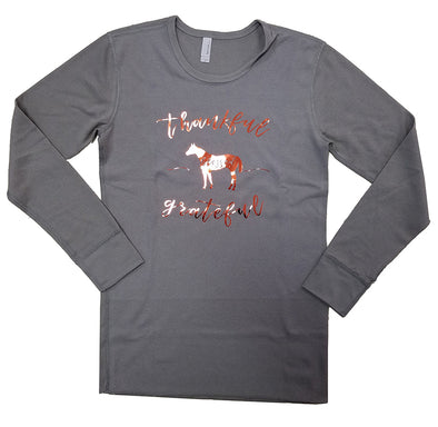 Copper Thankful Grey Long Sleeve