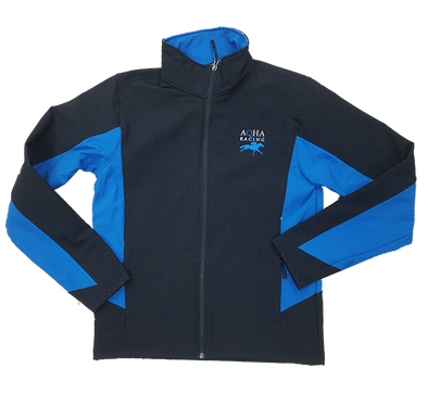 AQHA Racing Imperial Blue and Black Colorblock Soft Shell Jacket